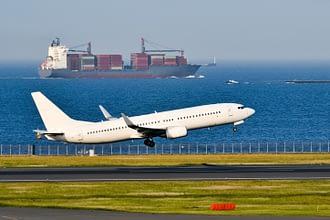 Aiplane and Cargoship